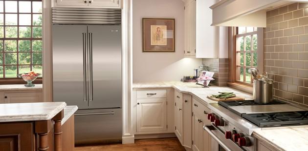 Sub Zero Bi 36ufd Refrigerator And Freezer With French