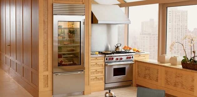 Sub Zero BI-30UG Refrigerator And Freezer With Glass Door